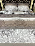 Комплект постільної білизни бязь голд в коричневих тонах Полуторний, фото 3