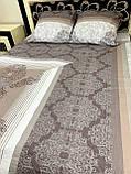 Комплект постільної білизни бязь голд в коричневих тонах Полуторний, фото 4