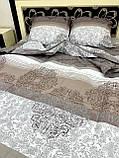 Комплект постільної білизни бязь голд в коричневих тонах Полуторний, фото 5