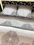 Комплект постільної білизни бязь голд в коричневих тонах Полуторний, фото 6