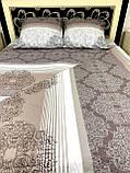 Комплект постільної білизни бязь голд в коричневих тонах Полуторний, фото 8