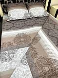Комплект постільної білизни бязь голд в коричневих тонах Полуторний, фото 9