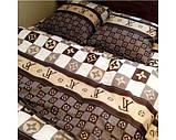 Комплект постільної білизни louis vuitton полуторний, фото 3