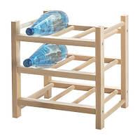"""ИКЕА """"ХУТТЕН"""" Подставка для 9 бутылок, массив дерева"""