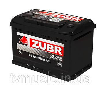 Автомобильный аккумулятор ZUBR ULTRA 6 СТ-74 (стандарт) 680А