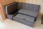 Угловой кухонный диванчик со спальным местом и нишей