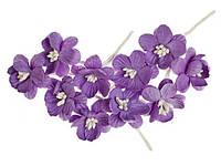 Цветы вишни сиреневые 10 шт. ScrapBerry's, фото 1
