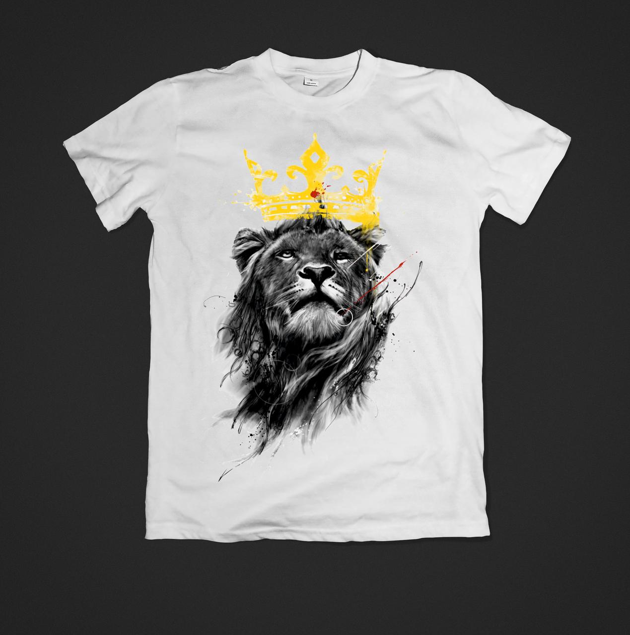 Футболка мужская с принтом lion