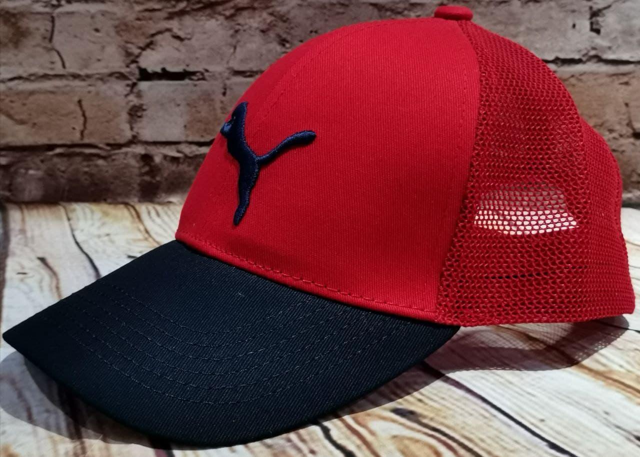 Чоловіча жіноча бейсболка кепка з сіткою червона