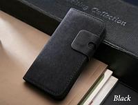 Черный чехол-книжка на iphone 5/5S из эко-кожи, мини портмоне