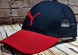 Чоловіча жіноча бейсболка кепка з сіткою червона, фото 2