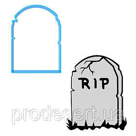 Вырубка для пряников Хеллоуин - Надгробие 8*5,8 см (3D)