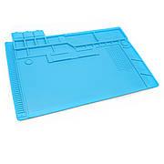 Коврик для пайки S170 (48см*32см) термостойкий силиконовый мат с ячейками под винты