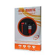 Кабель USB-iPhone 5/6/iPad Metal Magnetic 360° 2.1 A магнітний червоний