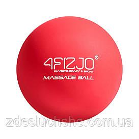 Массажный мяч 4FIZJO Lacrosse Ball 6.25 см 4FJ1202 Red SKL41-227504