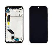 Дисплей XIAOMI Redmi Note 7/Note 7 Pro c чорним тачскріном з рамкою