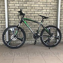 Велосипед Спортивный 26 дюймов Evolution CORSO Зеленый литые диски, рама алюминиевая, Shimano, 21 скорость