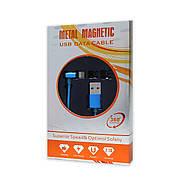Кабель USB-iPhone 5/6/iPad Metal Magnetic 360° 2.1 A магнітний синій