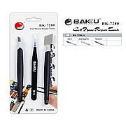 Набор инструментов BAKU BK-7280-A (скальпель, лопатка, пинцет)