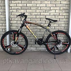 Велосипед Спортивный на литых дисках 26 дюймов Evolution CORSO Красный, рама алюминиевая, Shimano, 21 скорость
