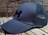 Чоловіча жіноча бейсболка кепка андер амур з сіткою, фото 4