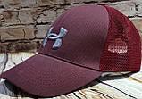 Чоловіча жіноча бейсболка кепка андер амур з сіткою, фото 7