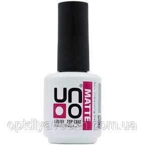 Топовое (финишное) матовое покрытие для ногтей UNO Matte Top Coat , 15 мл.