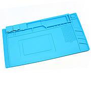 Коврик для пайки S160 (45см*30см) термостойкий силиконовый мат с ячейками под винты