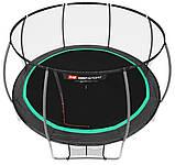 Батут для прыжков с внутренней сеткой 427 см 3 ноги черный с зеленым Hop-Sport Premium 14ft (427cm), фото 2