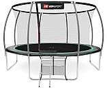 Батут для прыжков с внутренней сеткой 427 см 3 ноги черный с зеленым Hop-Sport Premium 14ft (427cm), фото 3