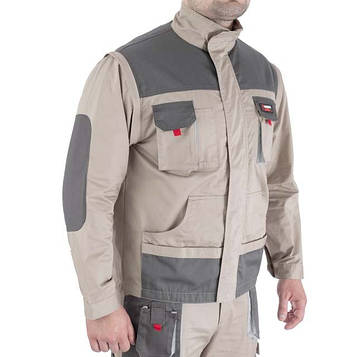 Куртка рабочая 2 в 1, 100 % хлопок, плотность 180 г/м2, M INTERTOOL SP-3032