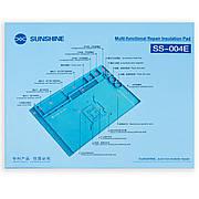 Коврик для пайки SUNSHINE SS-004E термостойкий силиконовый мат с ячейками под винты