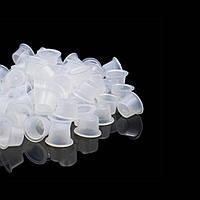 Ковпачки (капси) під тату-фарбу пластикові малі (100шт/уп)