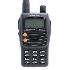Радіостанція PUXING PX-333 (5W, VHF, 136-174 Мгц, скремблер 8 груп, АКБ), чорна