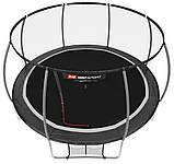 Батут для стрибків з внутрішньої сіткою 427 см чорний з сірим Hop-Sport Premium 14ft (427cm) black/grey, фото 2