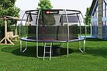 Батут для стрибків з внутрішньої сіткою 427 см чорний з сірим Hop-Sport Premium 14ft (427cm) black/grey, фото 4