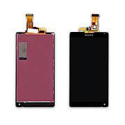 Дисплей SONY C6502 L35h Xperia ZL/C6503 L35i Xperia ZL з чорним тачскріном