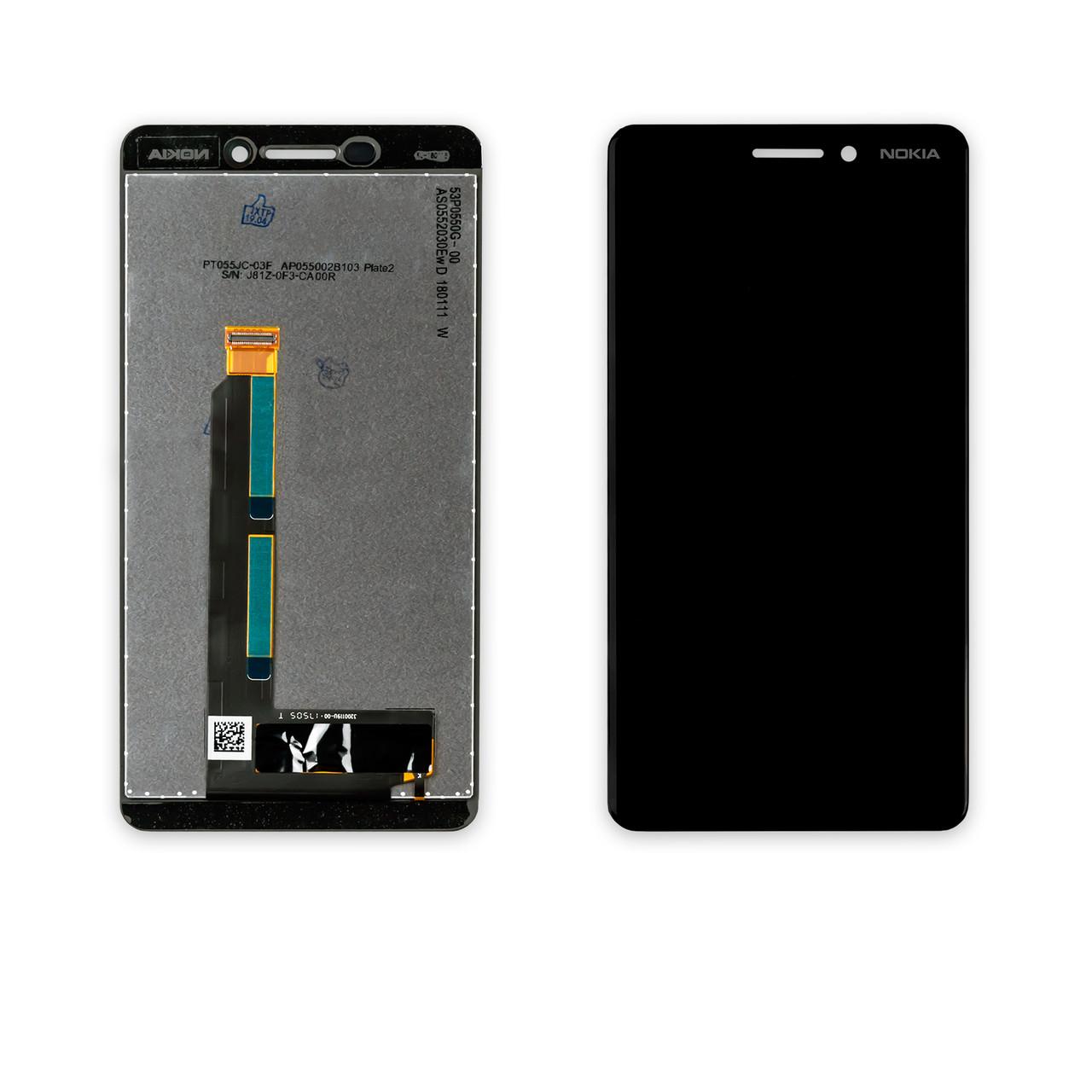 Дисплей NOKIA 6.1 Dual Sim (TA-1043) з чорним тачскріном