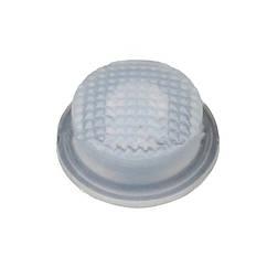 Cиликоновые кнопки для фонарей (14 x 8mm ), белые