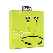 Навушники Bluetooth YiSON E5 Wireless Magnetic Suction вакуумні з гарнітурою, зелені