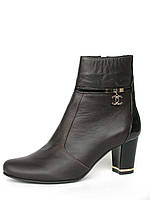 Классические ботинки из натуральной кожи цвета шоколада, фото 1
