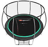 Батут для стрибків з внутрішньої сіткою 366 см чорний з зеленим Hop-Sport Premium 12ft (366cm) black/green, фото 3