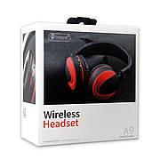 Навушники Bluetooth CELEBRAT A9 Wireless Headset червоні