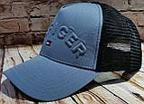 Чоловіча жіноча кепка бейсболка HILFIGER з сіткою, фото 5