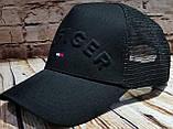 Чоловіча жіноча кепка бейсболка HILFIGER з сіткою, фото 2