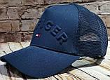 Чоловіча жіноча кепка бейсболка HILFIGER з сіткою, фото 3