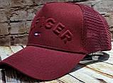 Чоловіча жіноча кепка бейсболка HILFIGER з сіткою, фото 4