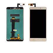 Дисплей XIAOMI Redmi Note 3 c золотистим тачскріном