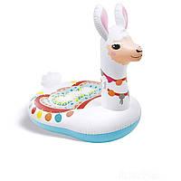 Плотик детский надувной Интекс 57564 Лама размер 135х94х112 см