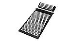 ОПТ Акупунктурный массажный коврик с подушкой-валиком массажер для спины/ног osport спортивный коврик черный, фото 2